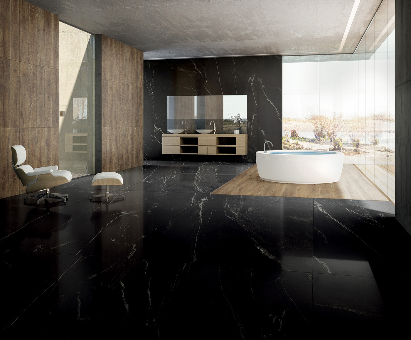 "Marble slabs - Nero Marquinia select  126""x63"""